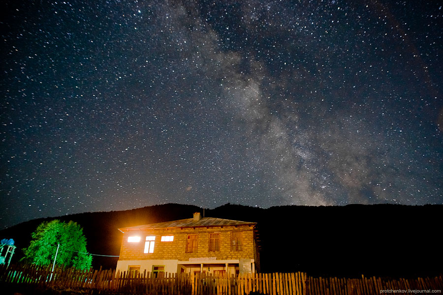 Milky Way in Ushguli, Georgia