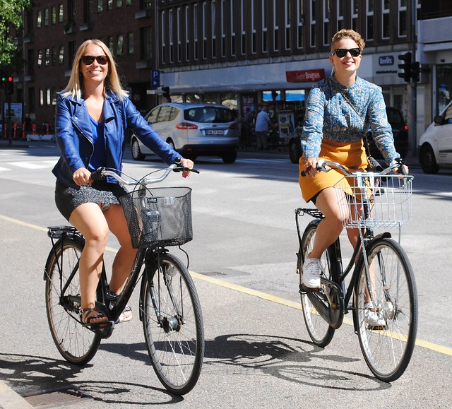 Karen and Charlotte Cycling