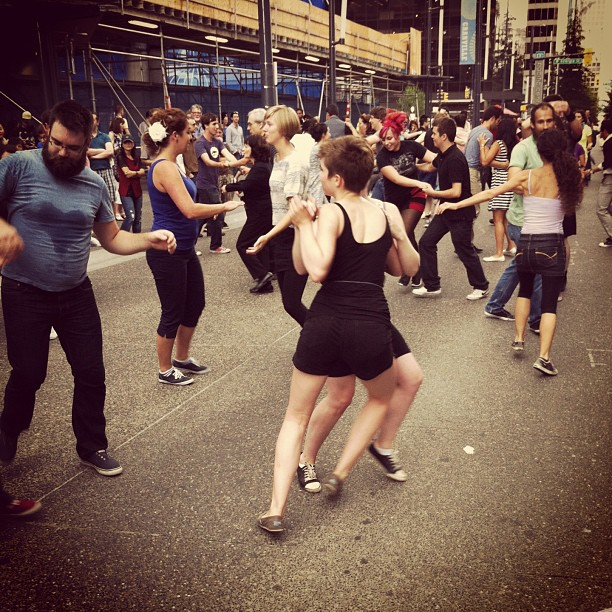 Swing Dance on the street, Vancouver, BC, Canada