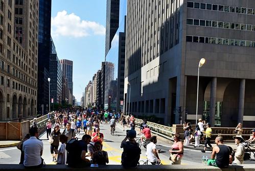 Pedestrian Party On Park Avenue