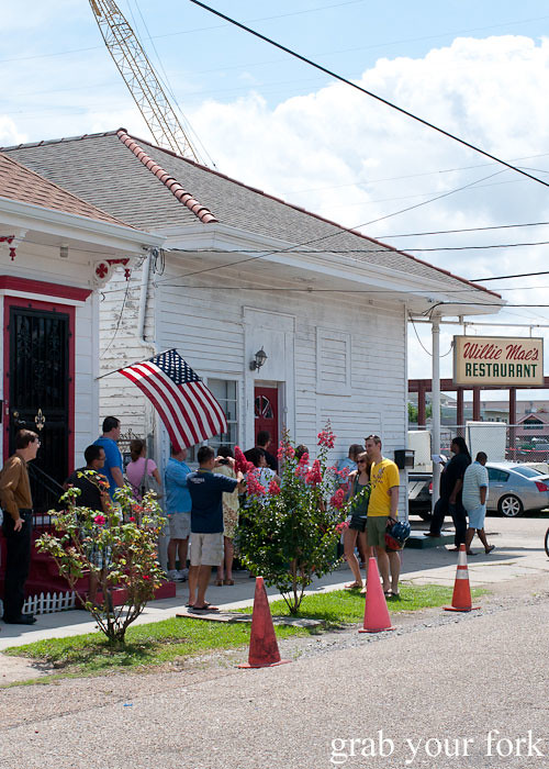 queue at willie mae's scotch house new orleans louisiana