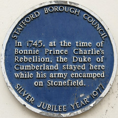 Photo of William Augustus and Duke of Cumberland blue plaque