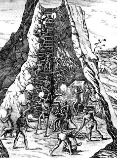 Dibujo de Cerro Rico (Potosí)