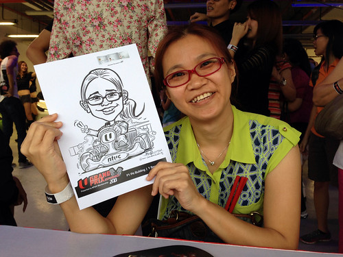 caricature live sketching for NTUC U Grand Prix Experience 2013 - 17