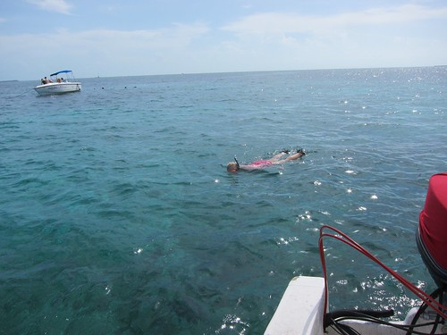 Even Jamma did some snorkeling at Shark Ray.