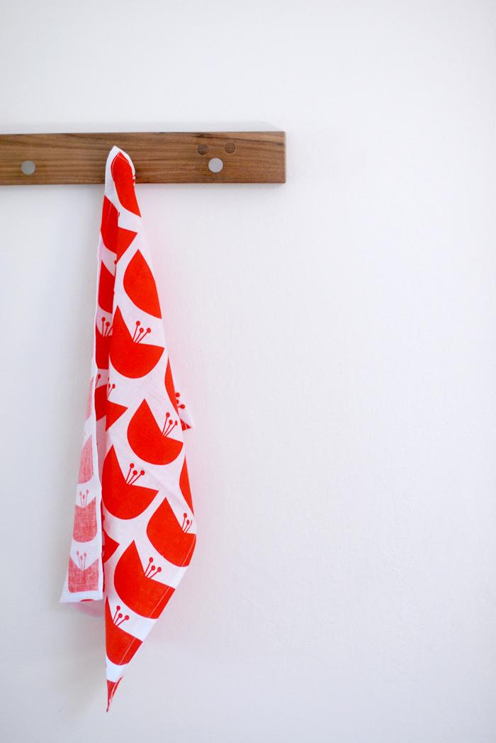 blossom tea towel