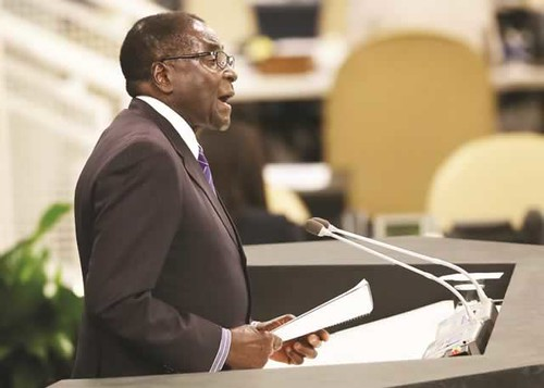 Republic of Zimbabwe President Robert Mugabe at the 68th General Assembly of the United Nations in New York City. He called for the lifting of sanctions by the West. by Pan-African News Wire File Photos