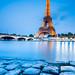 France - Paris - The Eiffel Tower - La Tour Eiffel at Dusk - Twilight - Blue Hour by © Lucie Debelkova / www.luciedebelkova.com
