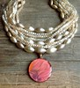 vintage pearl multi-strand necklace