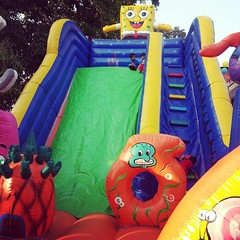It was a monster jumpy castle kind of a day. #spongebob is king.
