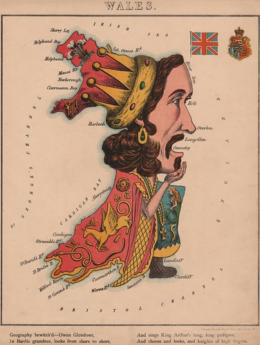 Caricature map of Wales by Aleph