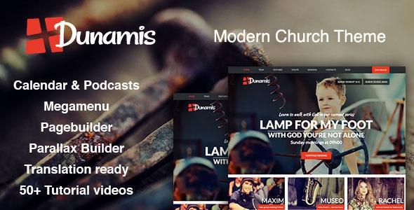 Dunamis v1.2 – Modern Church theme