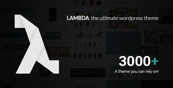 Lambda v1.38.0 - Multi Purpose Responsive Bootstrap Theme
