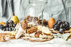 homemade granola bars with pumpkin, raisins and pe…
