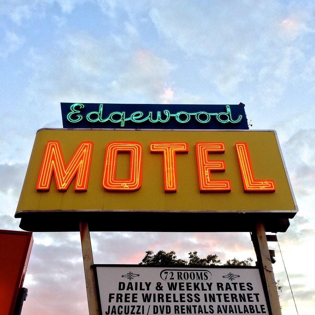 Vintge Neon Sign - Jericho NY - Edgewood Motel