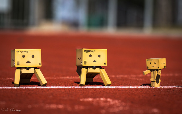 Danbo on the racing track