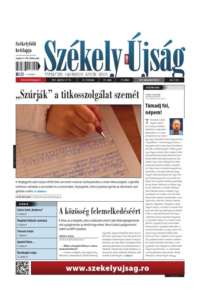 Székely Újság, 04. 2012
