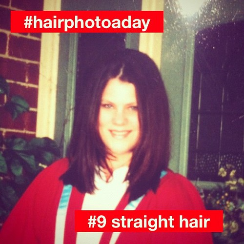 #hairphotoaday #pantene #9 Straight hair. For those  who have been wondering, here's what I look like with straight hair.