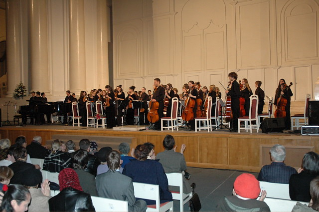 Denver School of the Arts Orchestra in Smolny Cathedral in St. Petersburg