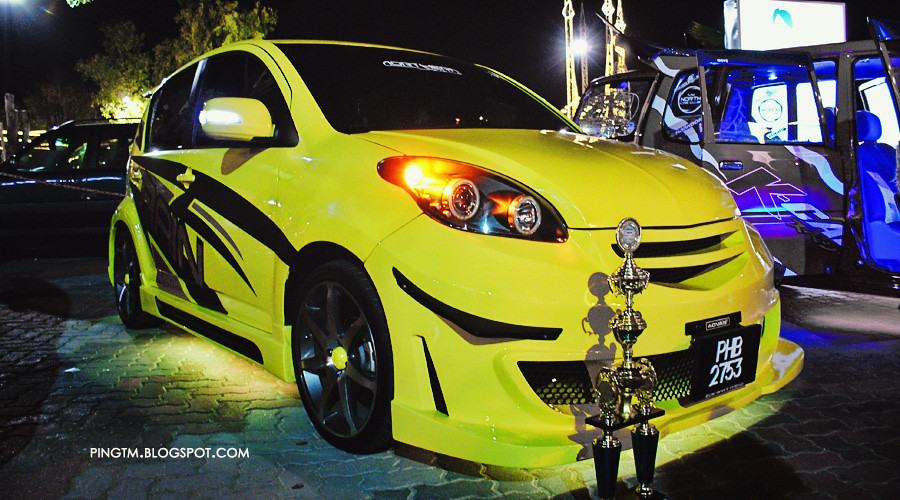 Yellow Myvi Neon Modified