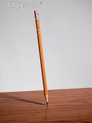 mechanical equilibrium: pencil stable equilibrium