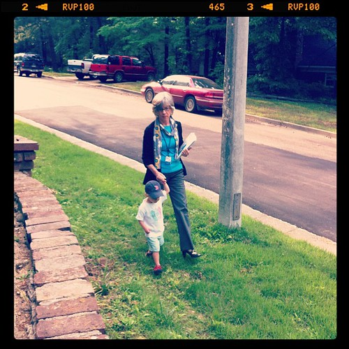 Miller walking with his Yaya