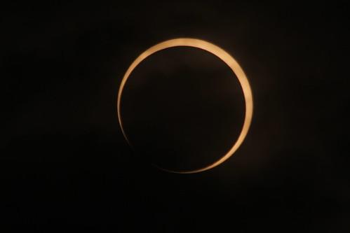 金環日食の金環目前2