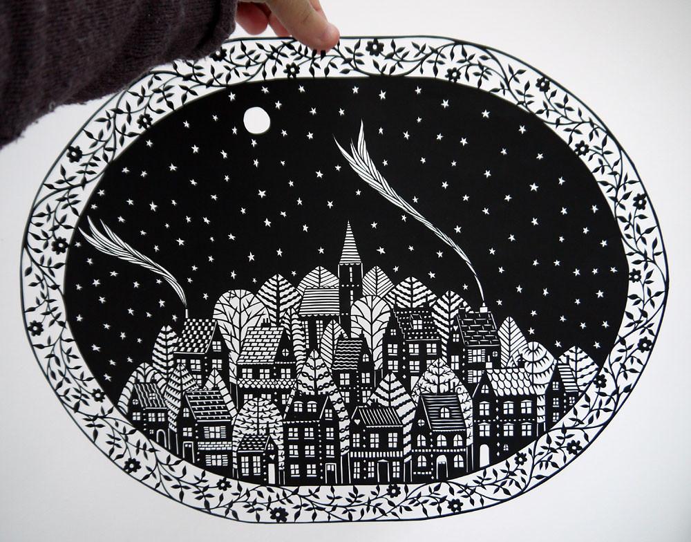 Hillside Village papercut