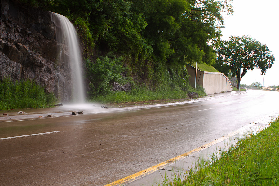 New Waterfall on Mesaba Ave. - Duluth Flooding