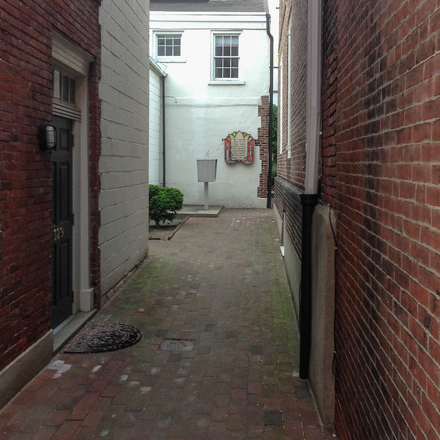 alleyway in brick