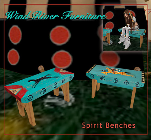 Spirit Benches by Teal Freenote