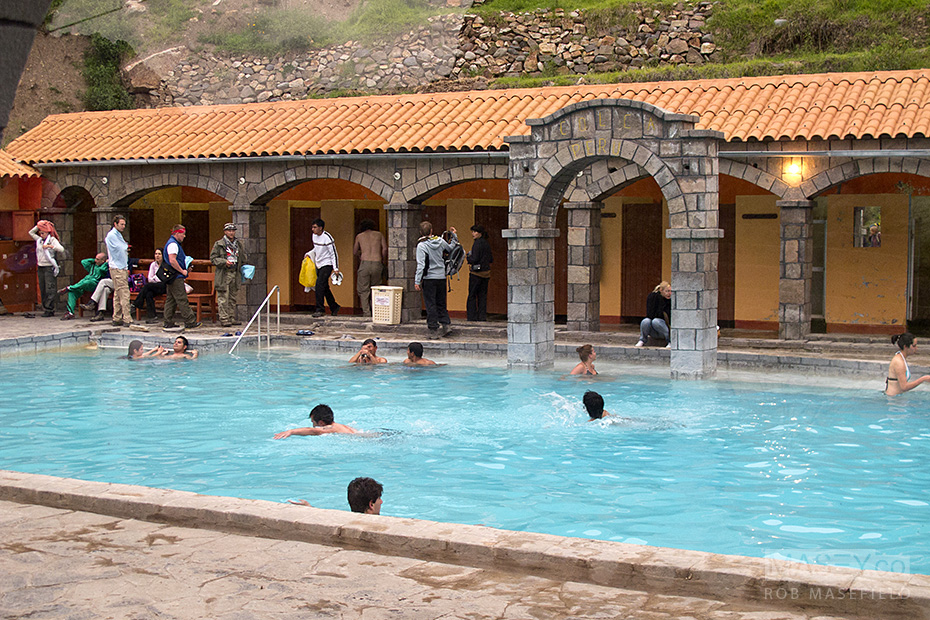 Taking a dip in the warm 'La Calera Natural Hot Springs'.