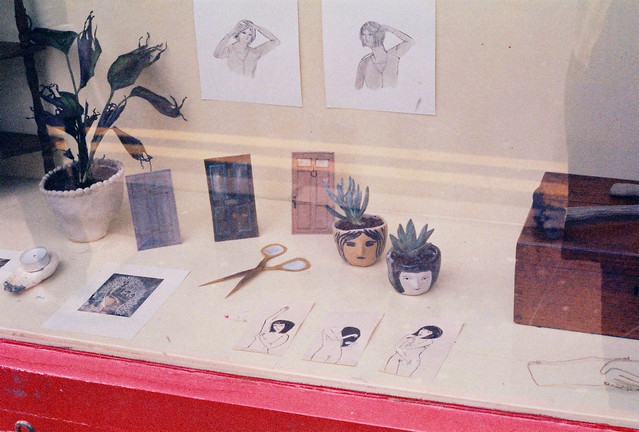 my display in the window of bookartbookshop
