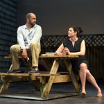 Timothy John Smith and Kate Shindle in the Huntington Theatre Company's production of Gina Gionfriddo's RAPTURE, BLISTER, BURN. May 24 – June 30, 2013 at South End / Calderwood Pavilion at the BCA. photo: T. Charles Erickson.