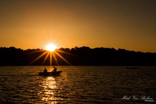 sunset lake landscape evening boat shadows fishermen nj sunburst kinnelon smokerise canon5dmkiii lakekinnelon