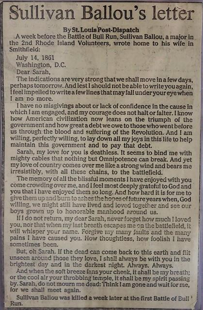 Sullivan Ballou's letter | Flickr - Photo Sharing!