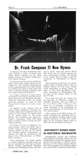 Rene Frank news clip from IU
