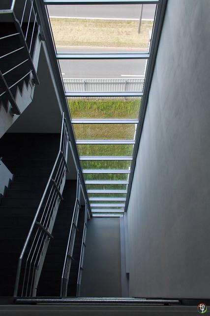 Treppenhaus aus der Vogelperspektive