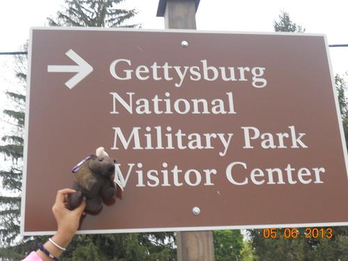 Buddy Bison - Gettysburg Sign - 2013