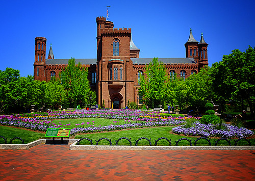 Colorful Spring at the Smithsonian Castle