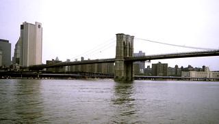 New York   -   Brooklyn Bridge from Circle LIne   -   22 June 1985