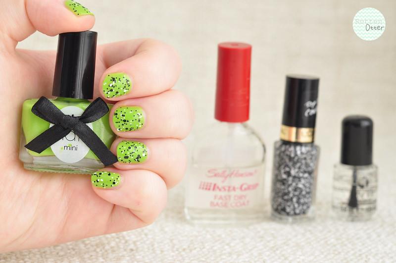 notd ciate mojito green creme l'oreal confetti glitter top coat nail polish rottenotter rotten otter blog 1
