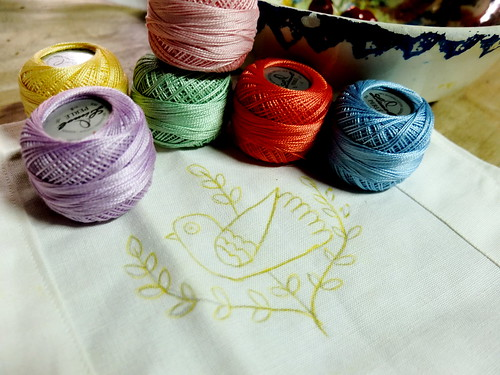 Bird Pattern and pastel colors