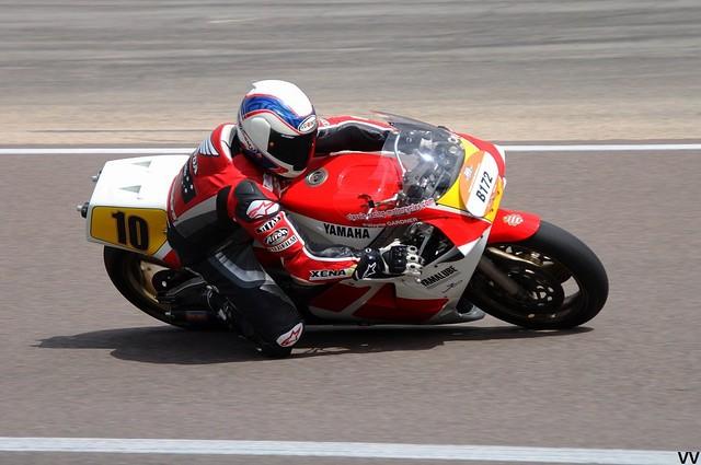 Wayne Gardner, sur une Yamaha 500 YZR de 1986.