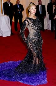 Beyonce Sheer Dress Celebrity Style Women's Fashion