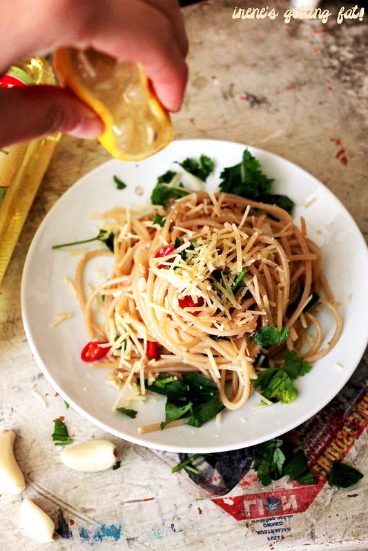 how to cook aglio olio with mushroom