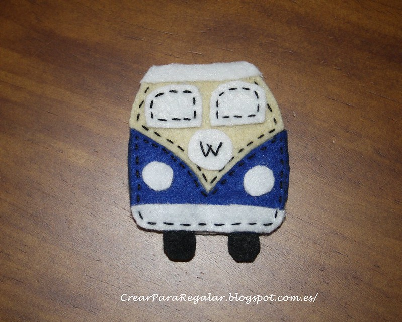 Broche de fieltro Furgoneta Volkswagen