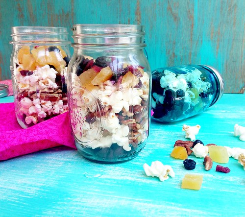 trail mix packed in a mason jar