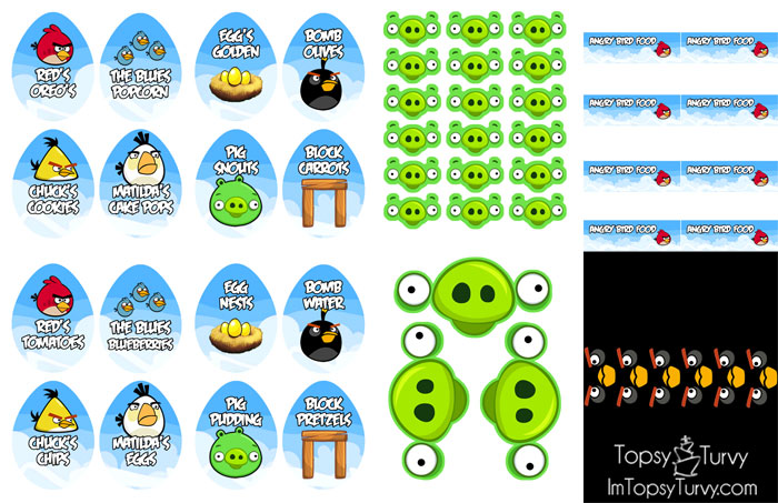 Angry birds birthday party ashlee marie angry birds birthday party labels pronofoot35fo Images
