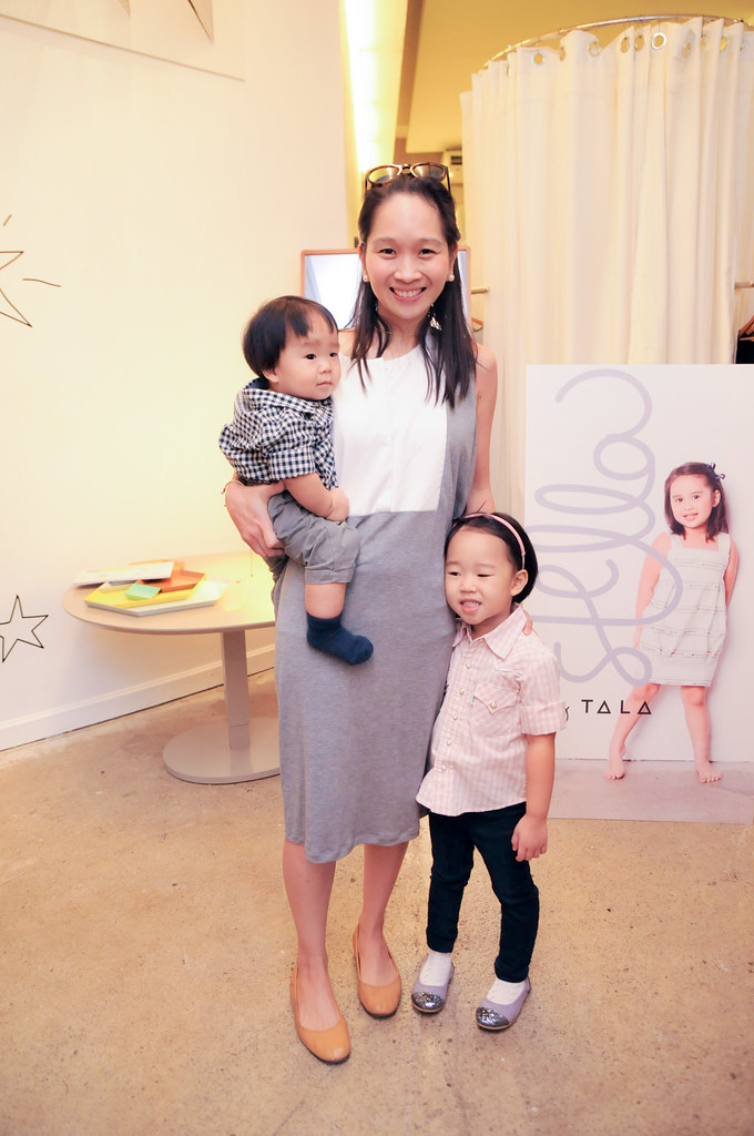 5) Blogger Christine Dychico and her two adorable kids